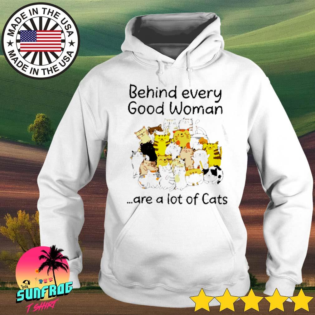 Behind every good woman are a lot of cats s Hoodie