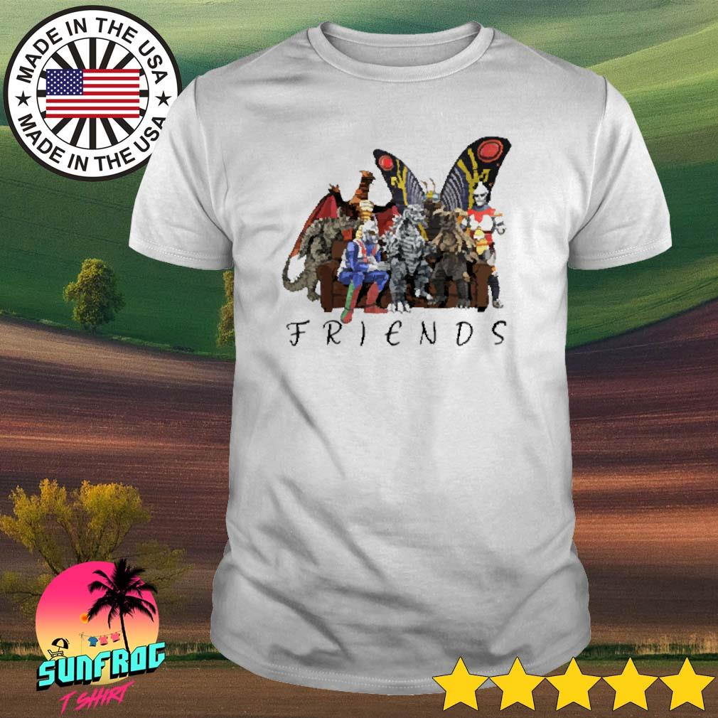 Godzilla and friends cartoon shirt