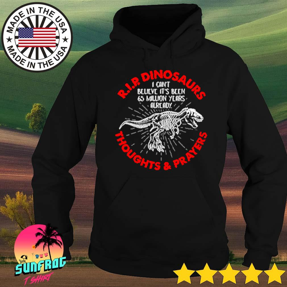 R.I.P. dinosaurs thoughts and prayers I can't believe it's been 65 million years already s Hoodie