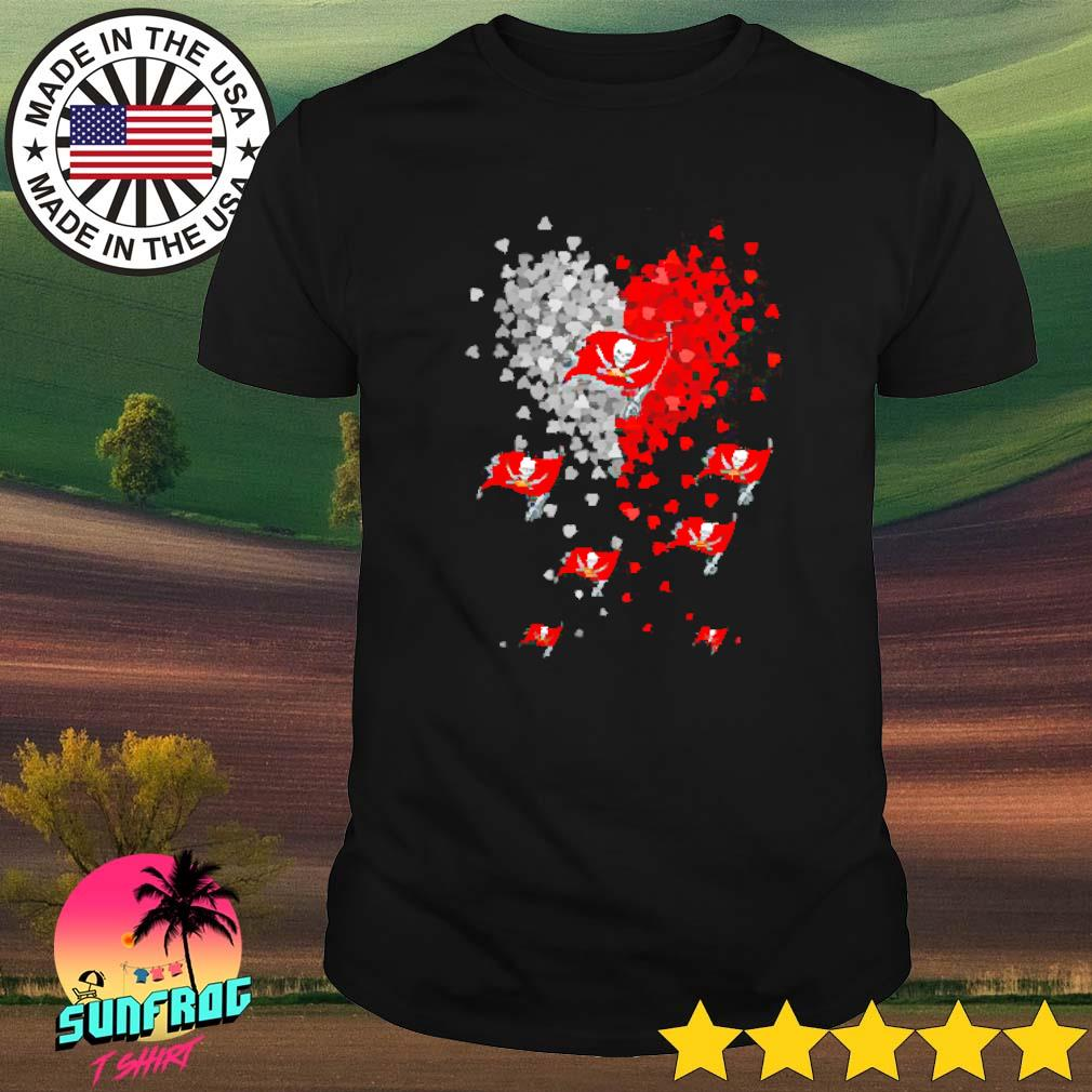 Tampa Bay Buccaneers tiny hearts shirt