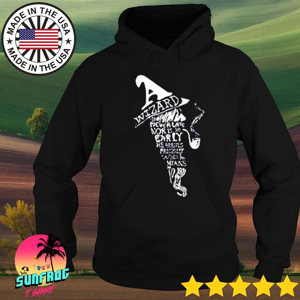Wizard is never late nor is be early he arrives precisely when he means to s Hoodie